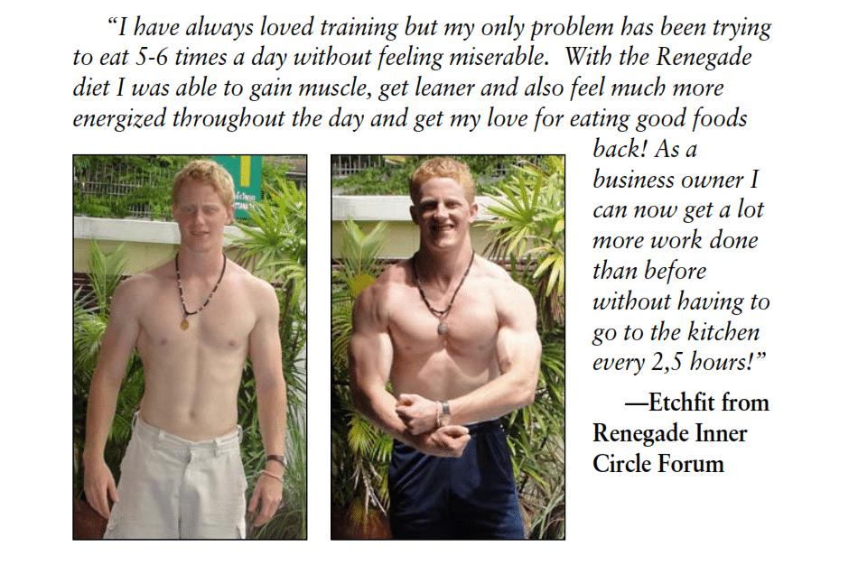 renegade diet testimonials