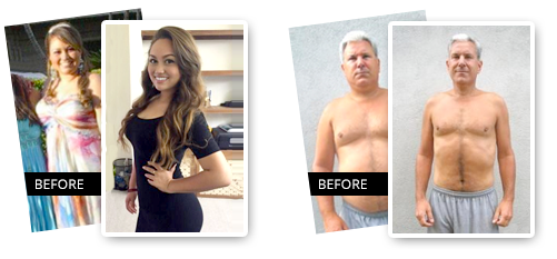 Before and after on 1 Minute Weight Loss Programs