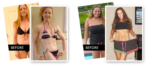 Before and after on the program