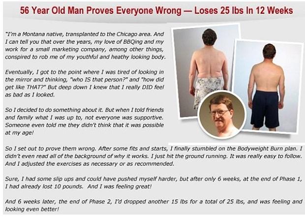 Bodyweight burn program testimonials